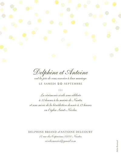 Faire-part de mariage Polka (dorure) portrait blanc - Page 2