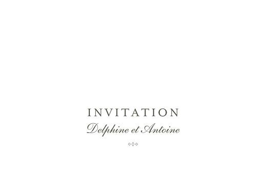 Carton d'invitation mariage Polka (dorure) blanc