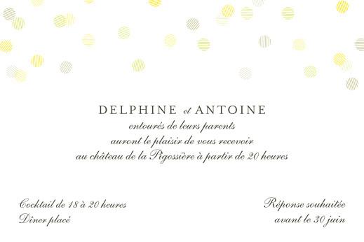 Carton d'invitation mariage Polka (dorure) blanc - Page 2