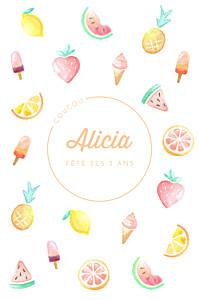 Carte d'anniversaire blanc summer pattern photo orange