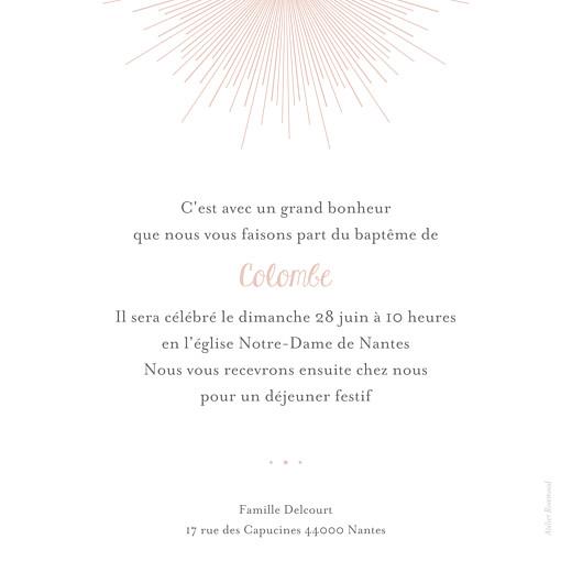 Faire-part de baptême Lumière (dorure) rose clair - Page 2
