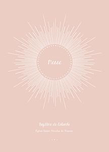 Livret de messe Lumière rose clair