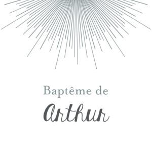 Etiquette de baptême Lumière blanc