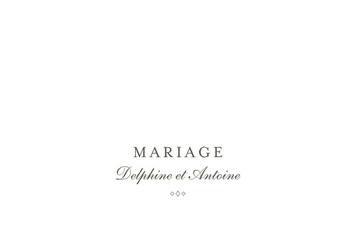Marque-table mariage Polka (dorure) blanc