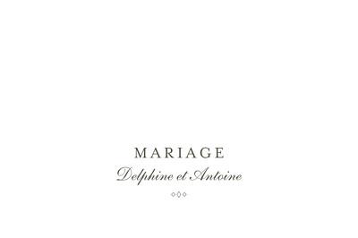 Marque-table mariage Polka (dorure) blanc finition
