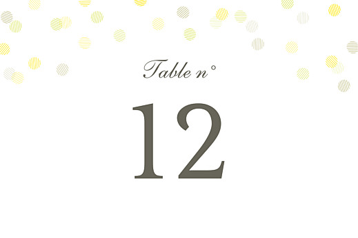 Marque-table mariage Polka (dorure) blanc - Page 2