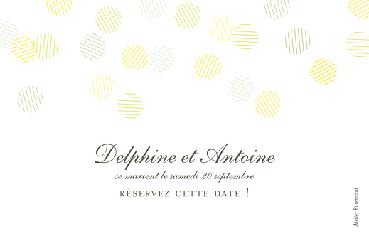 Save the Date Polka (dorure) blanc - Page 2