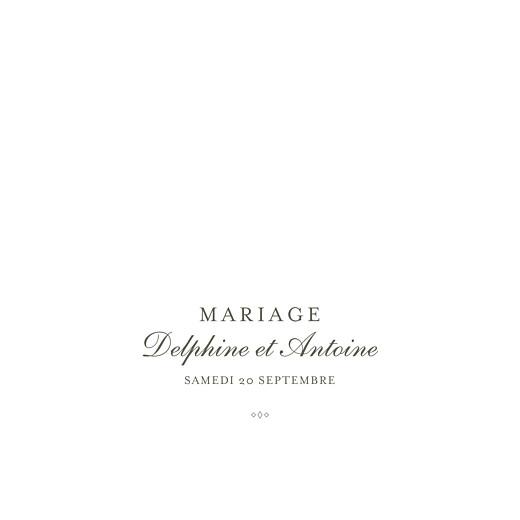 Faire-part de mariage Polka (dorure) blanc