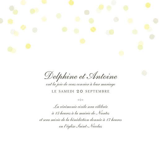 Faire-part de mariage Polka (dorure) blanc - Page 3