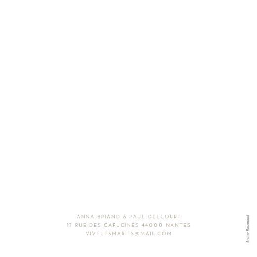 Faire-part de mariage Élégant photo blanc - Page 4