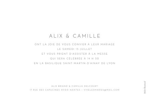 Faire-part de mariage Élégant photo paysage blanc - Page 2