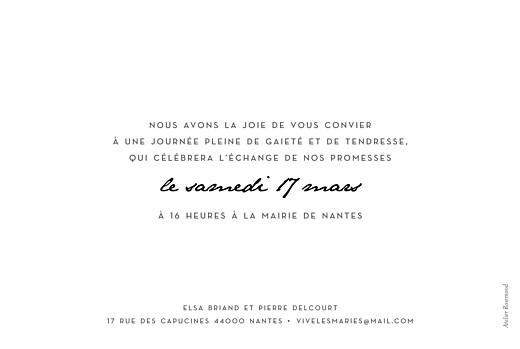 Faire-part de mariage Un joli mot paysage blanc - Page 2