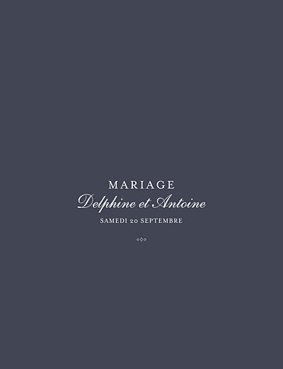 Faire-part de mariage Polka (dorure) portrait encre finition