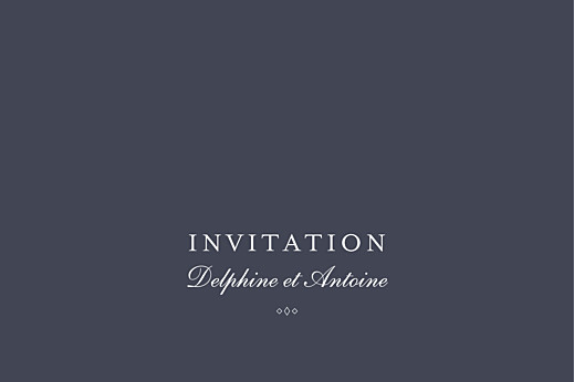 Carton d'invitation mariage Polka (dorure) canard