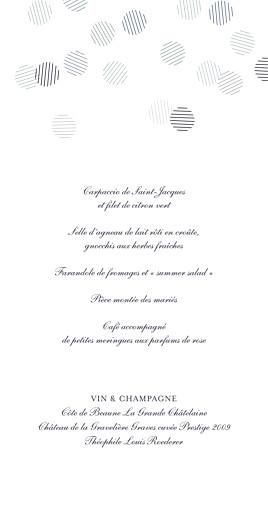 Menu de mariage Polka (dorure) encre - Page 3