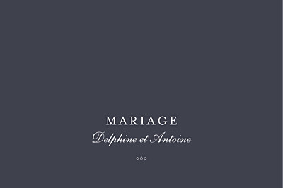 Marque-table mariage Polka (dorure) encre finition