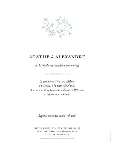Faire-part de mariage Reflets dans l'eau rv (dorure) vert - Page 2