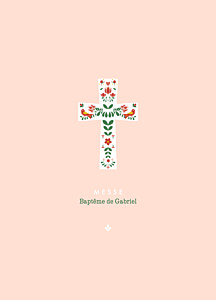 Livret de messe original croix folk rouge