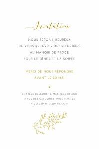 Carton d'invitation mariage jaune délicatesse jaune