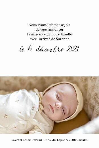 Faire-part de naissance Little big one 2 photos blanc - Page 2
