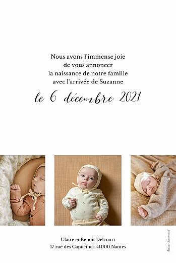 Faire-part de naissance Little big one 4 photos blanc - Page 2