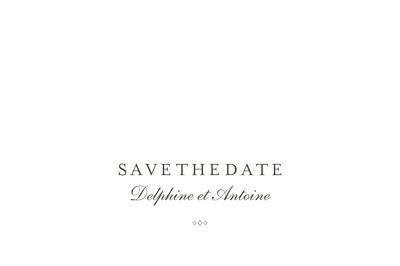 Save the Date Polka (dorure) blanc finition