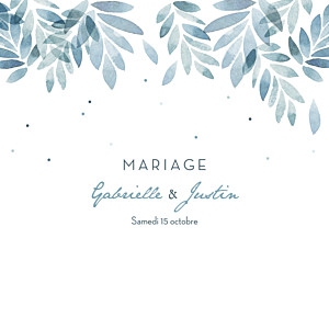 Faire-part de mariage Nuit d'été 4 pages (dorure) bleu