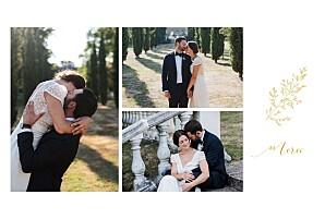 Carte de remerciement mariage Délicatesse jaune
