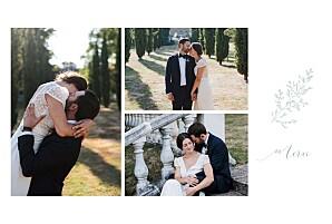 Carte de remerciement mariage vert délicatesse vert