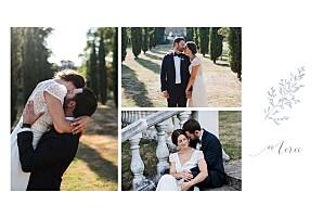 Carte de remerciement mariage bleu délicatesse bleu