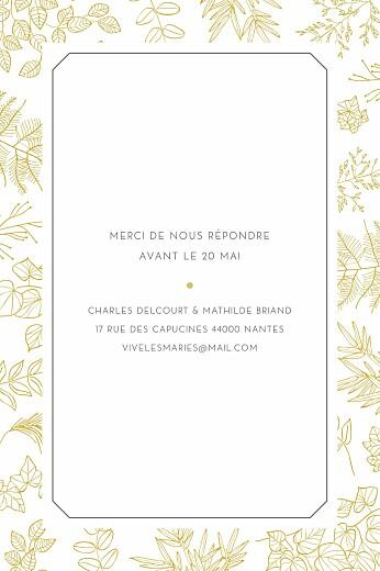 Carton réponse mariage Délicatesse jaune - Page 2