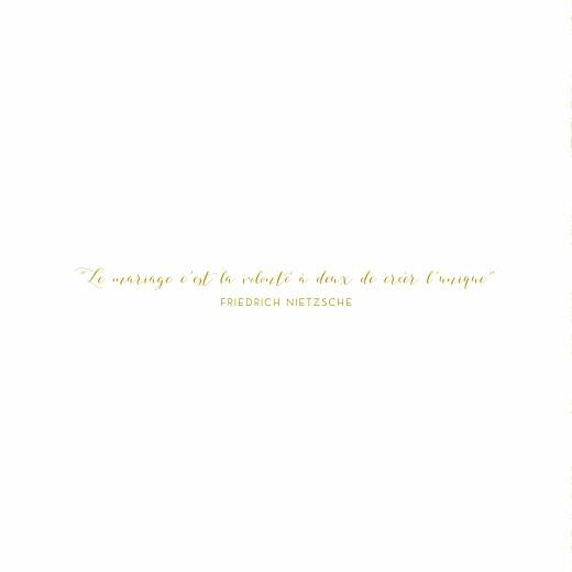 Faire-part de mariage Délicatesse jaune - Page 2