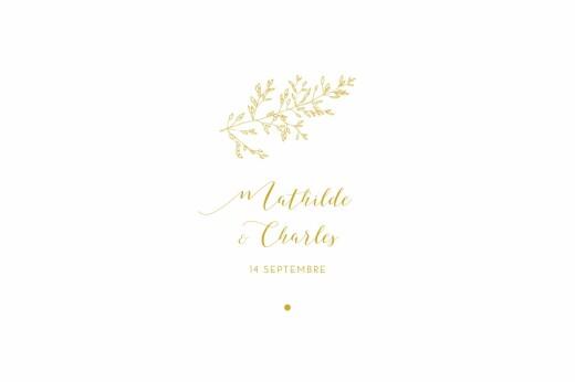 Marque-table mariage Délicatesse jaune
