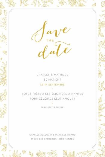 Save the Date Délicatesse jaune
