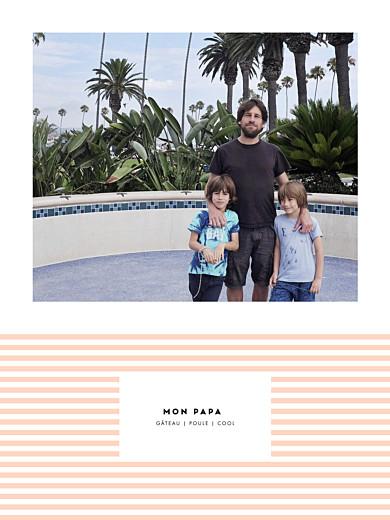 Affichette Rayures pastel orange - Page 1