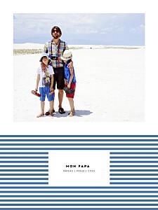 Affichette Rayures pastel bleu