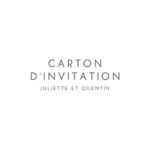 Carton d'invitation mariage moderne élégant cœur (dorure) blanc