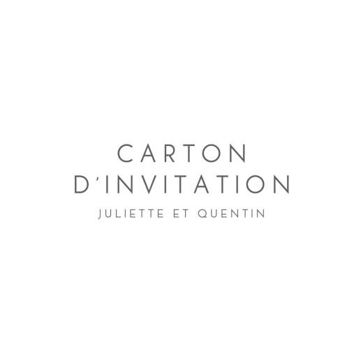 Carton d'invitation mariage Élégant cœur (dorure) blanc