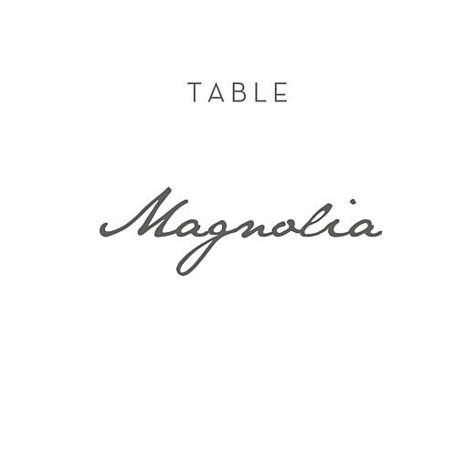 Marque-table mariage Élégant coeur (dorure) blanc