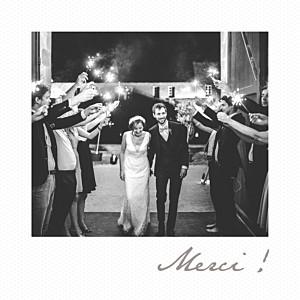 Carte de remerciement mariage tous genres petit polaroid blanc