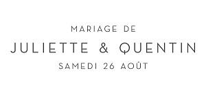 Etiquette de mariage original élégant coeur