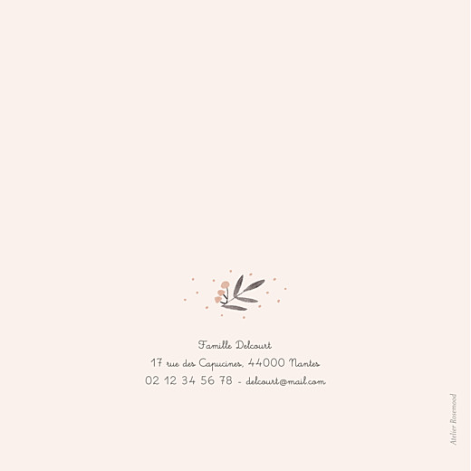 Faire-part de naissance Jolies brindilles rose - Page 4