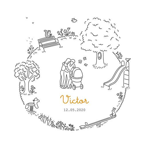 Faire-part de naissance Promesse au jardin blanc