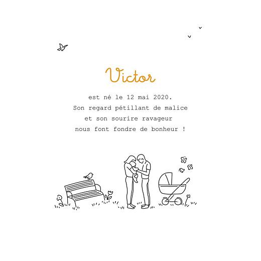 Faire-part de naissance Promesse au jardin blanc - Page 3