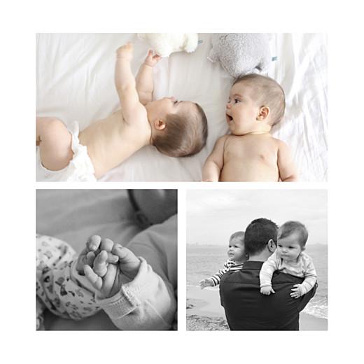 Faire-part de naissance Promesse au jardin jumeaux blanc - Page 2