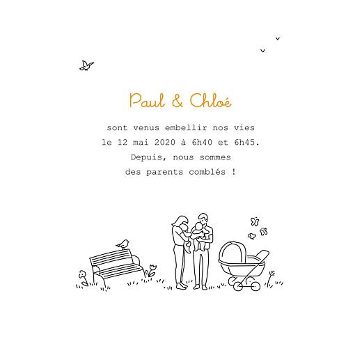 Faire-part de naissance Promesse au jardin jumeaux blanc - Page 3