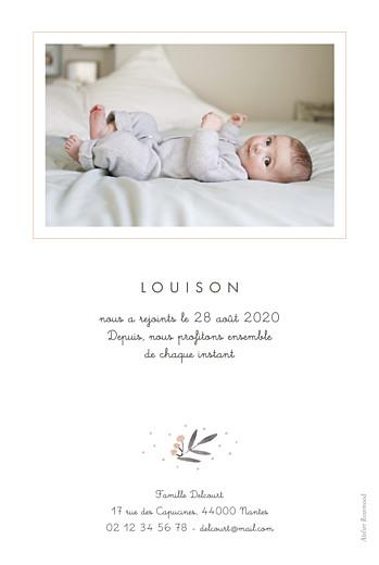 Faire-part de naissance Jolies brindilles portrait rose - Page 2