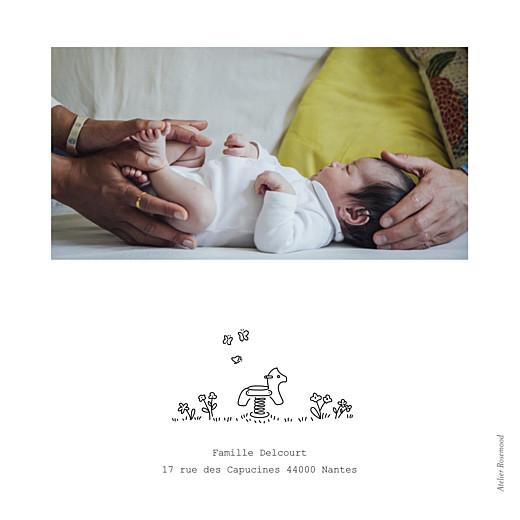 Faire-part de naissance Promesse au jardin blanc - Page 4