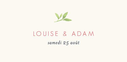 Marque-place mariage Fleurs aquarelle crème - Page 4