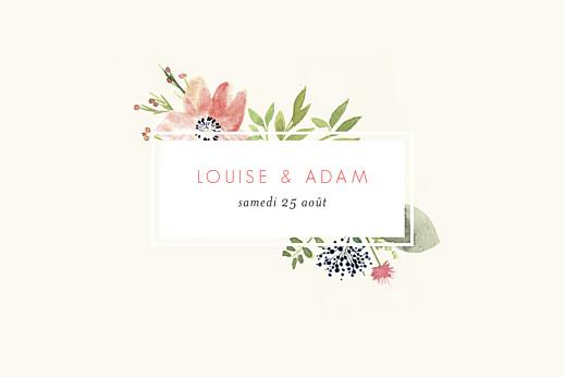 Marque-table mariage Fleurs aquarelle crème - Page 2